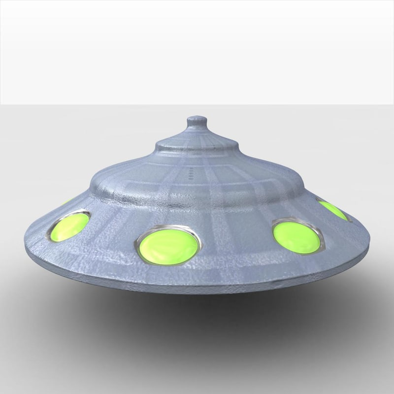 3d ufo spacecraft spaceship model