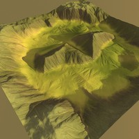 lowpoly Greenworld Terrain1