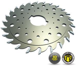 3d model saw blade