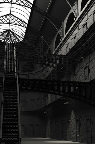 3d model creepy prison