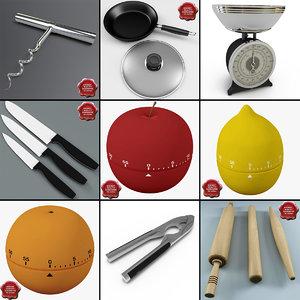 3d model kitchen tools