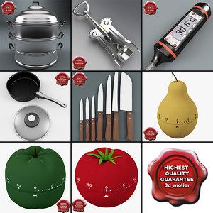 kitchen tools v2 3d c4d