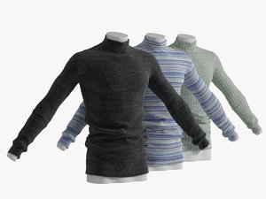 realistic knitted sweater 3d 3ds