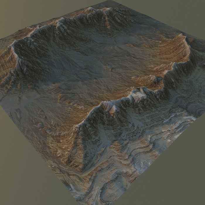 3d max mountain terrain