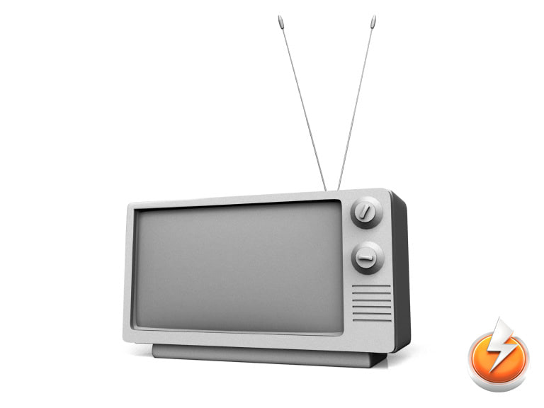3d model old television