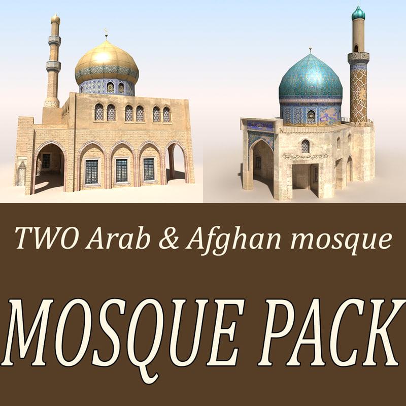 3d mosques arab