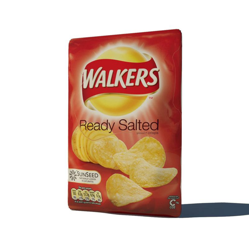crisps salted 3d obj