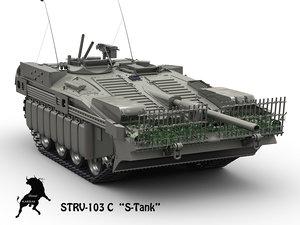 3d max swedish tank