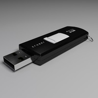 3d model sandisk usb flash drive