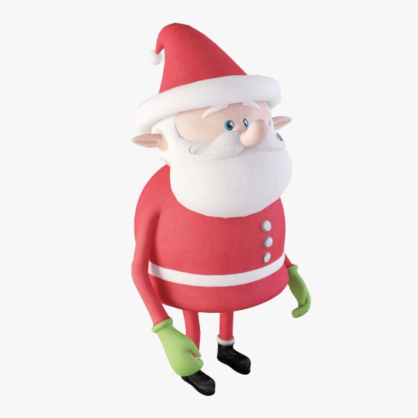 cartoony santa 3ds