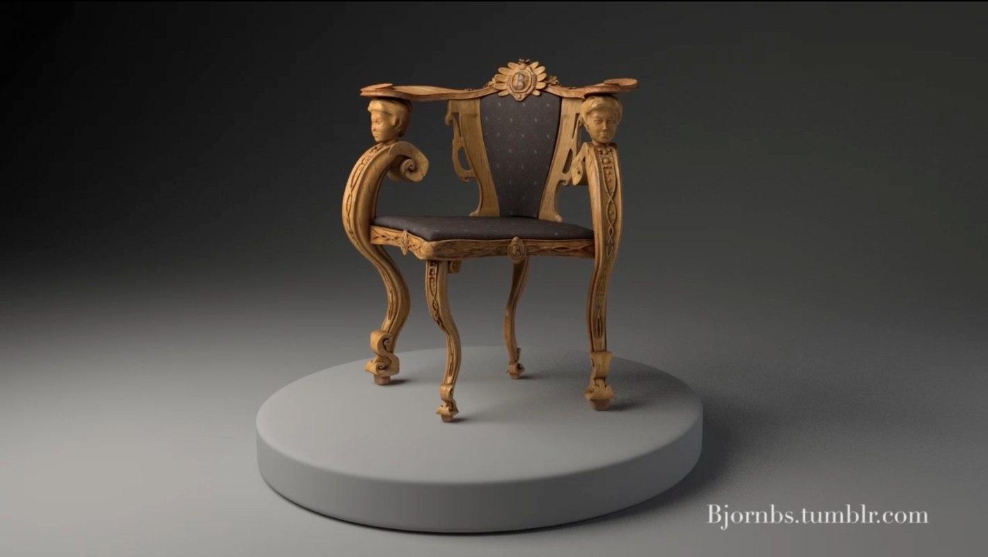 maya rococo chair