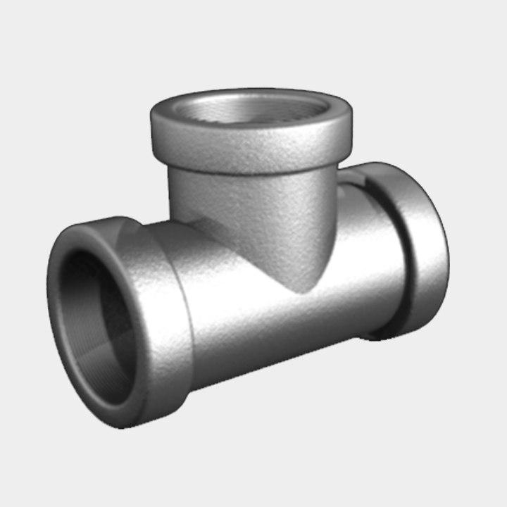 free pipe tee 3d model
