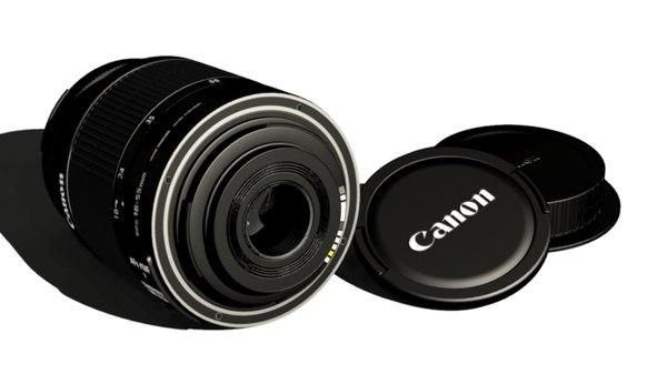 3d lens canon ef-s model