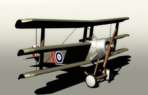3ds historical sopwith triplane