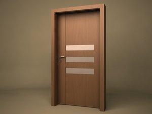 3d modern door