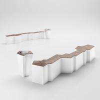modern bench 3d max