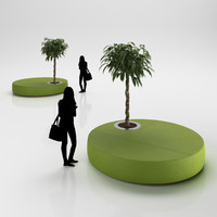 3d model ottoman tree