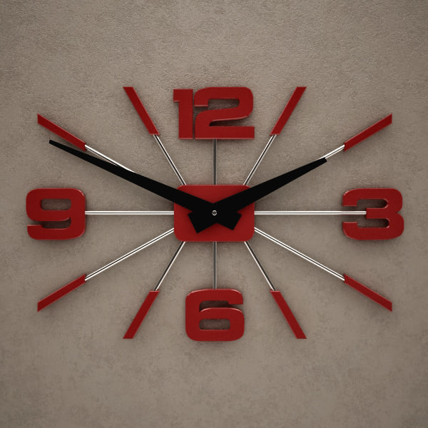 fxb wall clock obj