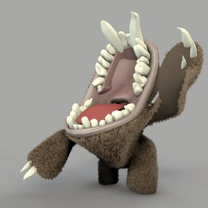 rigged teeth 3d c4d