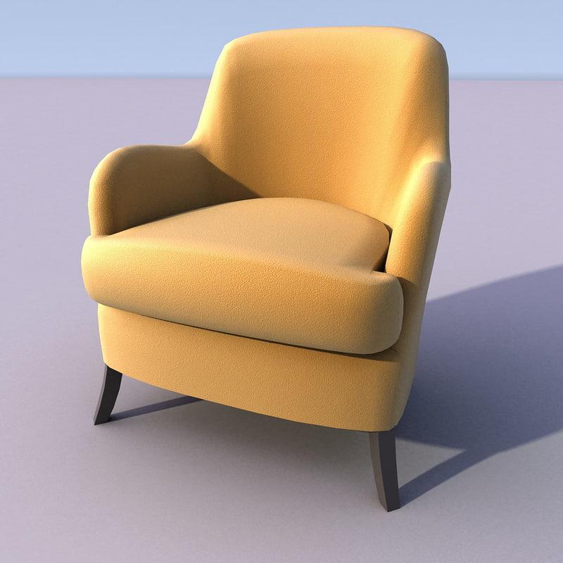 chair armchair 3d 3ds