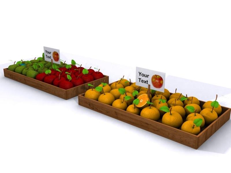 3d model fruit baskets