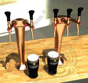free max model tap beer tower
