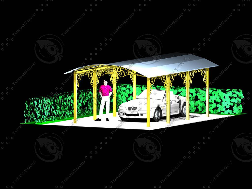 carport elements artistic forging 3d model