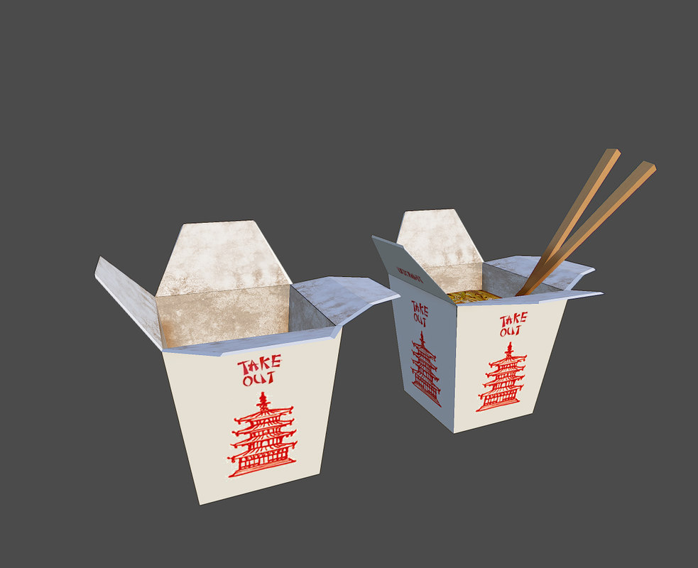 3d food chinese takeout