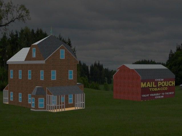 3d model victorain farm house