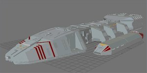 free battlestar galactica 3d model