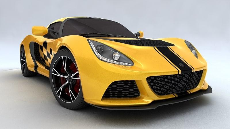 3ds max exige 2012 car