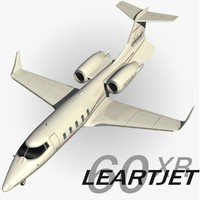 learjet 60 xr 3d max