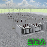 3ds max substation electrical station