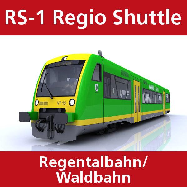 3d model rs-1 regio shuttle passenger train