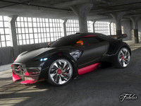 3d model citroen survolt car concept