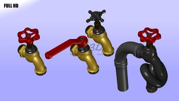 water taps 3d lwo