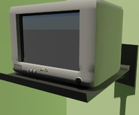 3d model television sanyo