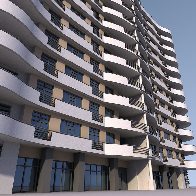 residential building 3d max