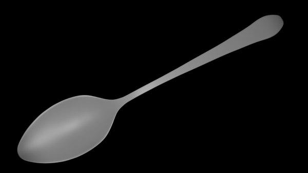 free spoon 3d model