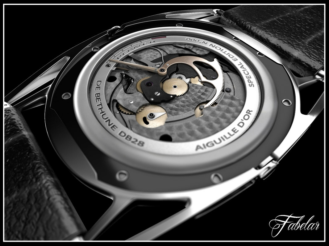 bethune watch mentalray 6 3d model
