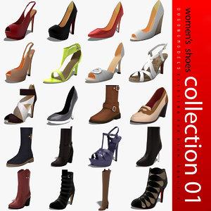 3d dugm03 women´s shoes 01 model