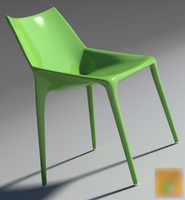 3d chair outline green 2013