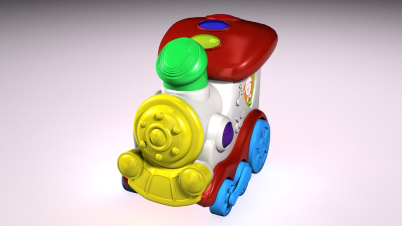 toy locomotive 3d max