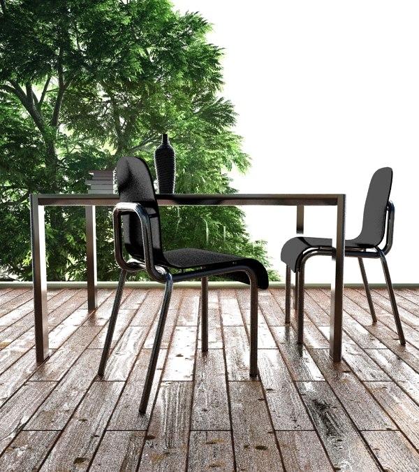 3d light chair model