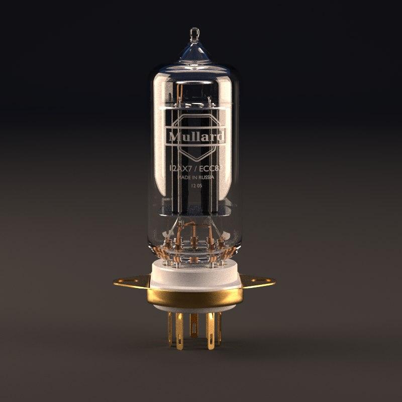 vacuum tube socket 12ax7 3ds