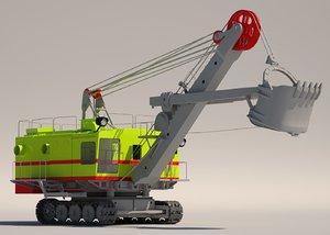 3d electric crawler shovel