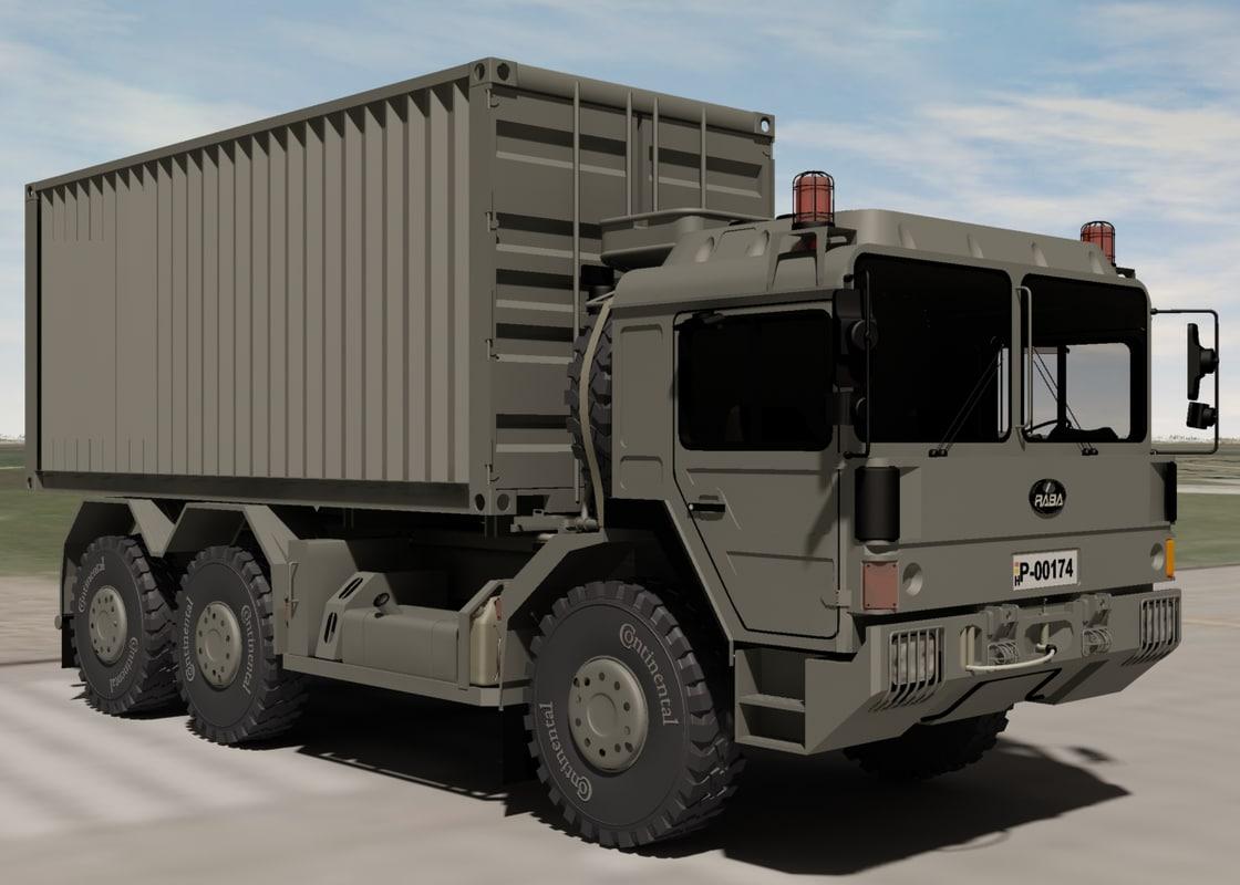 hungarian military raba h25 3d model