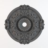 ceiling rosette 3d model