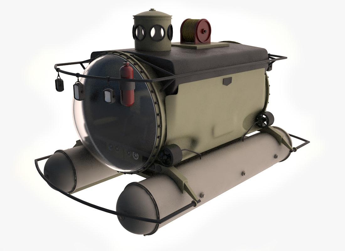 3d model mini sub