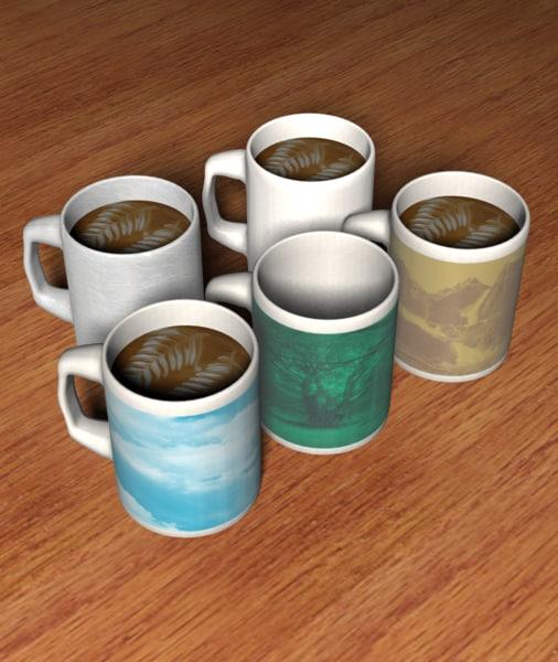 3d mug coffee